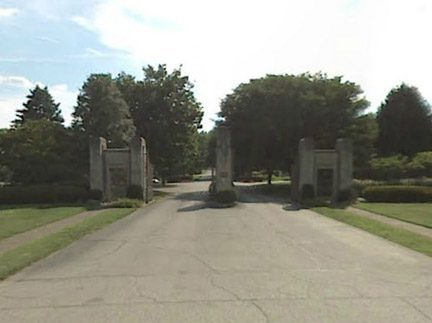 Catholic Calvary Cemetery Entrance